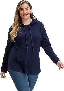 Hanna Nikole Womens Hoodie Plus Size Pullover Long Sleeve Sweatshirt with Pocket
