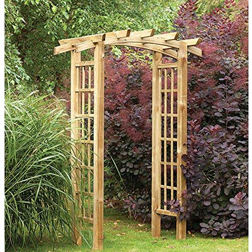 Pure Origins Ryeford Bow Top Pergola style Timber Garden Arch Trellis