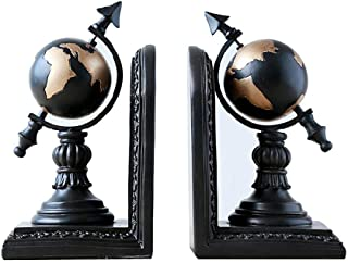 LY88 Fashion Decorative Crafts Bookends, Globe Resin Bookshelf Book, Book Ends For Office Or Study Room Home Shelf Decorative