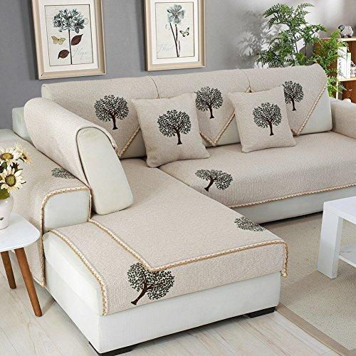 weiwei Canapé Serviette Housse Canapé Coussin Quatre Saisons général antidérapant Tissu Coton Moderne Salon Canapé Housse de canapé de Serviette, D, 45cm * 45cm (Pillowcases 2 Pieces)