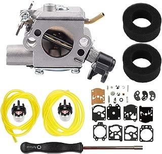 Dalom 753-05215 Carburetor + Air Filter + Adjustment Tool + Repair Kit for Walbro WT-798-1 WT798G Stens 615-731 Craftsman Troy-Bilt String Trimmer Yard Machine MTD Cub Cadet Bolens Remington
