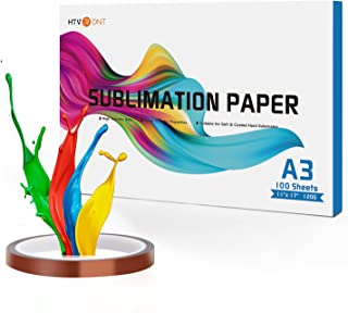 $27 » HTVRONT Sublimation Paper 11x17 inches - 100 Sheets Inkjet Sublimation Paper Compatible with Inkjet Printer 120gsm
