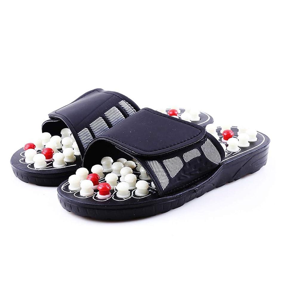 器官テレマコス交響曲アキュポイントマッサージスリッパサンダル用男性足中国指圧療法医療回転足マッサージ靴ユニセックス (Size : 8)