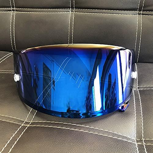11 Colores Dorado Iridium Motorcycle Face Helmet Lens Funda de Lente de Visera para Shoei X14 X-14 Z7 CWR-1 NXR RF-1200 X-Spirit 3 Mascarilla de Visor (Color : Electroplating Blue)