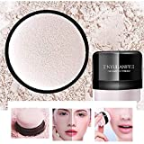 Make-up-Puder Loose Face Puder Matte Oil Control Light Durchscheinend Glatte Einstellung Foundation Concealer Make-up Kosmetische (durchscheinende natürliche) (Pilzform) Puff (01)