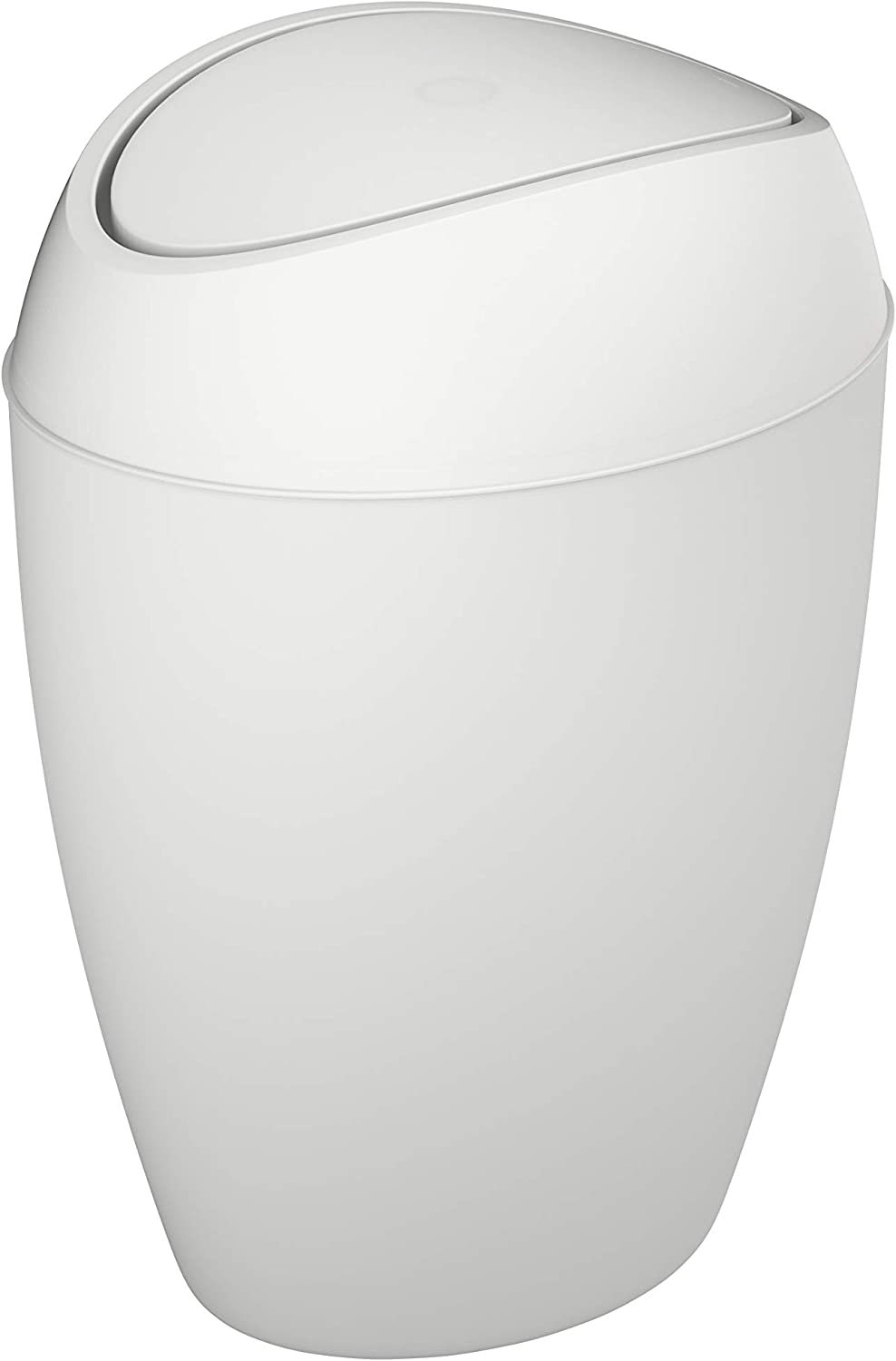 Trash Can with Swing-top Lid 2.4 Gallon Shadow Gray