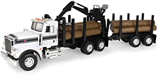 ERTL Big Farm Logging Truck with Pup Trailer & Logs