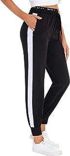 Pantalones Deportivos para Mujer Pantalon Chandal Largo de Secado rápido de Elásticos Cintura Alta Sueltos Casual Yoga Pants con Bolsillos y Cordón Talla Grande Verano