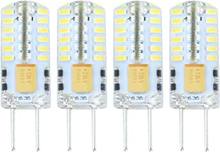 Lamsky G6.35 GY6.35 Bi-Pin Base LED Bulb,12V/24V 2.5W Daylight 6000K,JC Type Halogen Replacement Bulb,Not Dimmable,30W Equivalent(4-Pack)