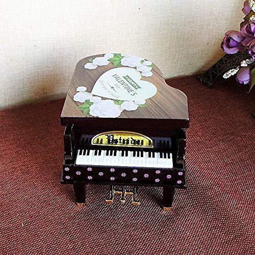 Children's verhaal speler Music Boxes Piano Music Box Ballet Girl Dancing Piano Verjaardagscadeau Plastic Cartoon Rotating Music Box Desktop Craft Geschenken for kinderen (Kleur: Geel, Grootte: Gratis