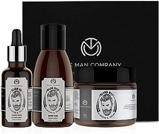 The Man Company Beard Care Kit with Beard Growth Oil, Beard Wash/Shampoo, Beard Wax with Almond & Thyme | 100% Natural Oil...