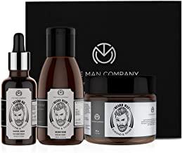 The Man Company Awesome Beard Combo - Almond & Thyme (Beard Oil 30Ml + Beard Wash 100Ml + Beard Wax 50Gm) | Made in India