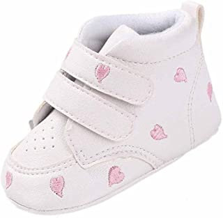 7ad49f4bab868 WARMSHOP Baby Girl Boys Good Quality Embroidery Shoes Heart-Shaped  Anti-slip Crib Shoes