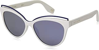 Marc Jacobs sunglasses (MARC-301-S VK6/3J) White - Matt Blue - Grey green with Mirror effect lenses