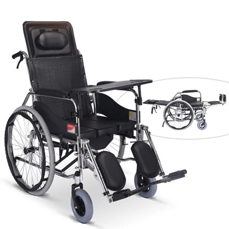根絶する星カウボーイ48cmの座席が付いている鋼鉄輸送の車椅子 - 輸送および貯蔵のための折り畳み式の車椅子 - 滑らかな乗車のための24インチの後部車輪