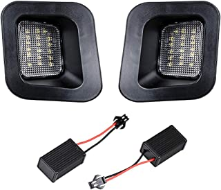 2X Xenon White 18-LED License Plate Light Compatible with 03-18 3rd 4th Gen Dodge RAM 1500 2500 3500 Truck
