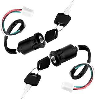 WPHMOTO Male Plug 4 Wires Ignition Key Switch Set for ATV Scooter Dirt Bike 50cc 70cc 90cc 110cc 125cc 150cc