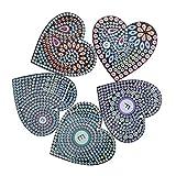 Llavero de bricolaje, llavero en forma de corazón de bricolaje, 5 piezas/juego para el hogar de los amigos