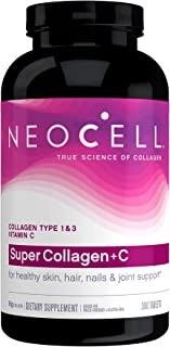 NeoCell Super Collagen with Vitamin C, 360 Collagen Pills, #1 Collagen Tablet Brand, Non-GMO, Grass Fed, Gluten Free, Coll...