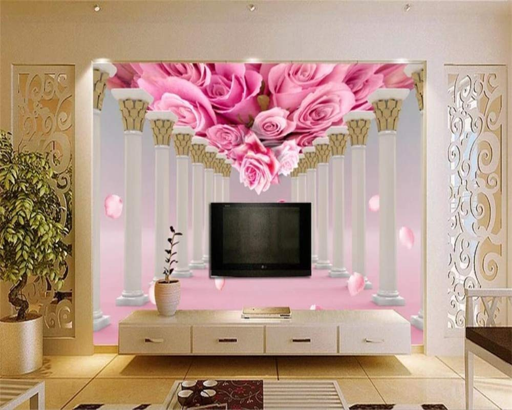 Buy Avikalp Exclusive Awz0163 3d Wallpaper Mural Rose Flower Living Room Bedroom Tv Background Wall Hd 3d Wallpaper 365cm X 304cm Online At Low Prices In India Amazon In