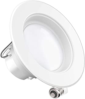 Sunco Lighting 4 Inch LED Recessed Downlight, Baffle Trim, Dimmable, 11W=40W, 2700K Soft White, 660 LM, Damp Rated, Simple Retrofit Installation - UL + Energy Star