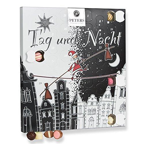 Peters Tag & Nacht Adentskalender, 1er Pack (1 x 275 g) Stylischer Kalender für doppelten Genuss