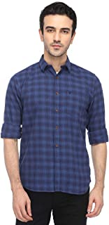 French Connection Mens Slim Collar Check Shirt_Blue