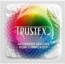 Trustex Assorted Colors Non-Lube: 100-Pack of Condoms
