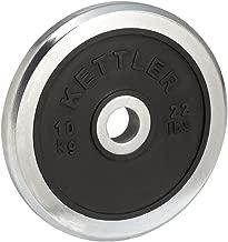 Kettler Chrome/Rubber Dumbbells Disc - 15 kg, Chrome/Black