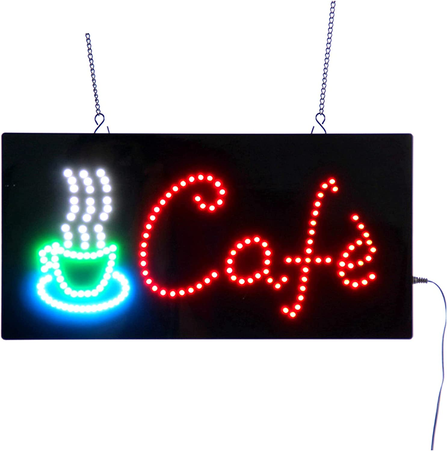 Pipigirl LED Cafe Sign Electronic Neon Lig Light Up It is very popular Import 19in9in