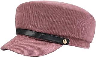 c68d2b0d336 Bornbayb Womens Casual Cap Cotton Fisherman Hat Fashion Newsboy Cabbie Cap  for Ladies Big Girls(