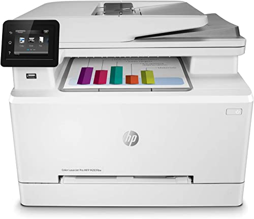HP Color LaserJet Pro M283fdw Wireless All-in-One Laser Printer, Remote Mobile Print, Scan & Copy, Duplex Printing, W...
