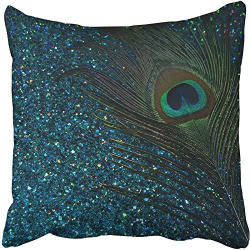 Running-sun Funda de almohada decorativa de cristal de mar macizo, color azul, verde y azul, funda de almohada, funda de cojín para el hogar, sofá, tamaño decorativo de 45,7 x 45,7 cm