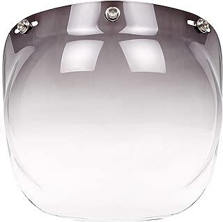Chern Yueh Bubble Face Shield Visor for 3-Snap Open Face Helmets (Smoke Gradient)