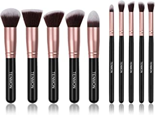 Tenmon 10 PCS Makeup Brush Set, Eye Shadow Foundation Liquid Eyebrow Pencil Concealer Blush Lip Brush Mixed Makeup Brush S...