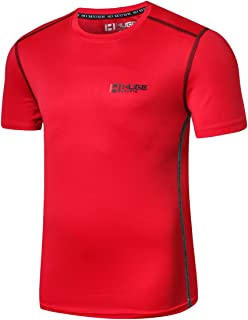 HUGE SPORTS Men's Athletic Exercise Sports Breathable Quick Dry Short Sleeve Fitness T-Shirts Tee Tops Tshirt