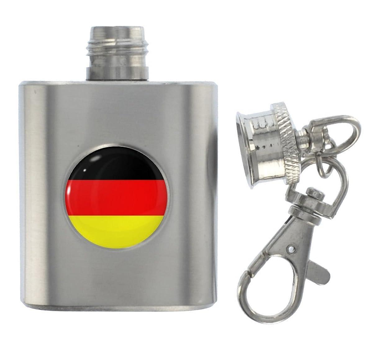みなす妻銀行1StopShops ドイツ国旗 メタルミニチュアフラスコキーリング