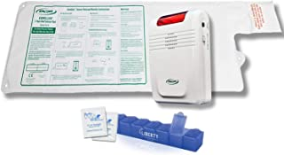 """Smart Caregiver Wireless Bed Alarm System - Large Cordless Weight Sensing Bed Alarm Pad (20"""" x 30"""") with Remote Alert Monitor, 20 Individual Cleaning Wipes and Liberty 7 Day Pill Box"""