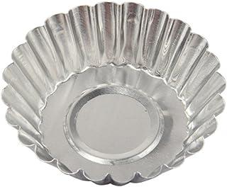 Hermione Hosmer 20Pcs Tarte Aux Oeufs en Aluminium Cupcake Ligné Moule Moule De Cuisson Outil De Cuisson Pudding Ustensile...