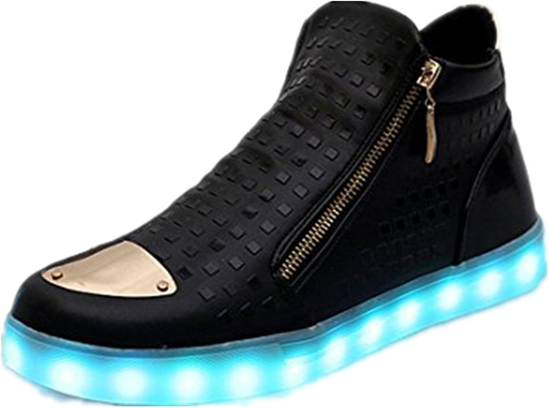 A5uyzbayu Unisex Women Men LED Light Up Sneakers High Top shoes