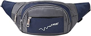 Ultramall Unisex Fashion Casual Simple Multicolor Oxford Sport Single Shoulder Messenger Bag Waist Packs
