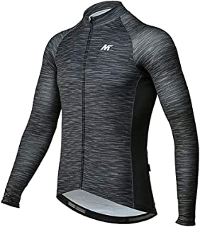 Men's Cycling Jersey Long Sleeve Shirts Bike Bicycle Breathable Riding Sports Jerseys Black