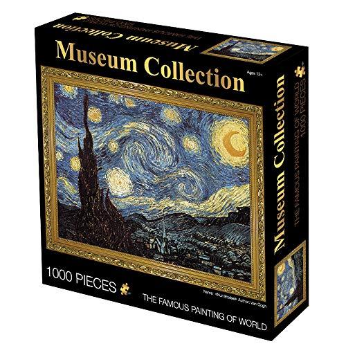 LJ123 Van Gogh Pittura Puzzle Cielo Stellato Paesaggio 1000 Pezzi Puzzle Decorazioni per la casa Il miglior Regalo per Adulti