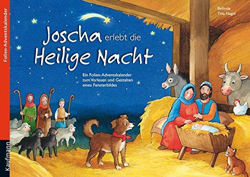 Joscha erlebt die Heilige Nacht: Folien-Adventskalender (Adventskalender mit Geschichten für Kinder / Ein Buch zum Vorlesen und Basteln)