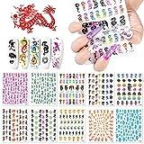 Kalolary 10pcs Pegatinas de Uñas Dragon Collection Nail Art Pegatinas, Calcomanías de Uñas de Dragón Rojo Negro 3D Etiqueta Engomada Autoadhesiva del Clavo Para Salón deUñas Femenino