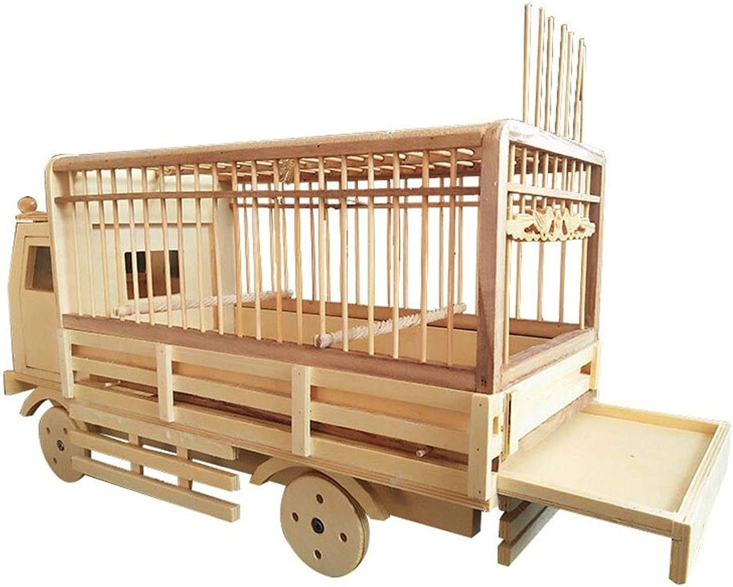 Pure Hand Craft Bamboo Bird Cage Car Styling Bird House Suitable for Sparrow Pearl Jade Bird