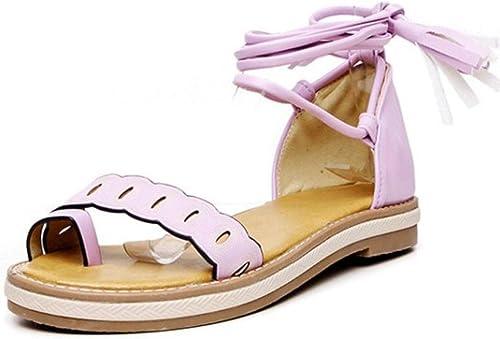 Sandales Plates à Sangle croisée pour Femme Taille Taille Taille 30-47, Violet (Violet), 44 EU 0a8