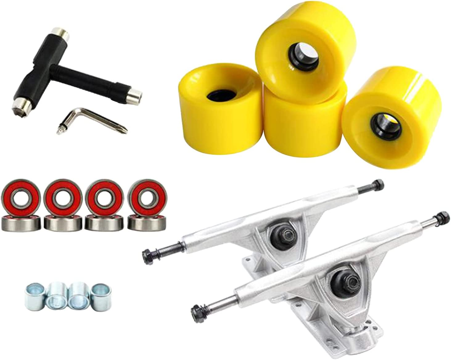T TOOYFUL Skateboard Set Parts Large special price Trucks 4pc All items free shipping 2pcs Kit