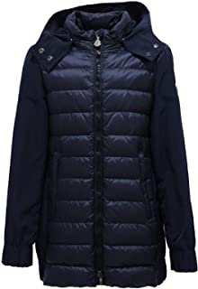 MONCLER 1354Z Giacca Parka BI-MATERIALE Girl Bimba CLEOFEN Blue Jacket