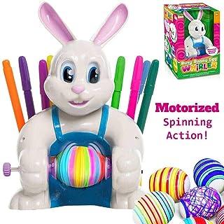 JOYIN Klever Kits Motorized Easter Egg Decorator Kit Battery Driven Busy Bunny Egg Whirler Easter Egg Spinner Decorating M...